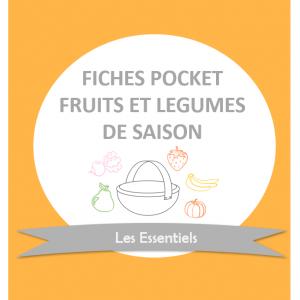 Fruits et légumes de saison Fiches Pocket Cubes et Petits pois diversification alimentaire et cuisine bio pour bébé