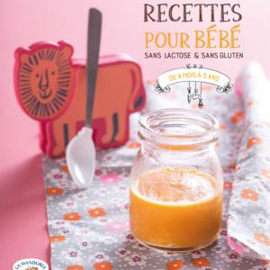 Recettes bébé sans lactose et sans gluten La Mandorle Cubes et Petits pois éditions Marie-Claire